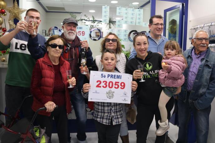 El 23059, un cinquè premi, cau íntegrament a Palamós